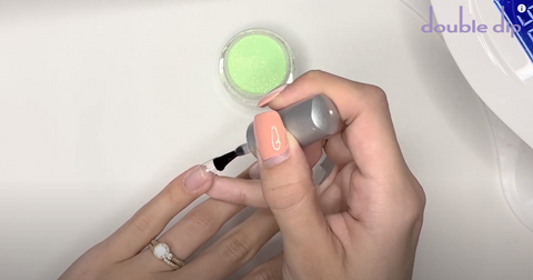 Apply this over your entire nail
