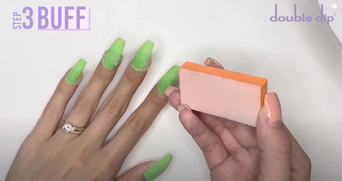 small buffer and buff the surface of your nails
