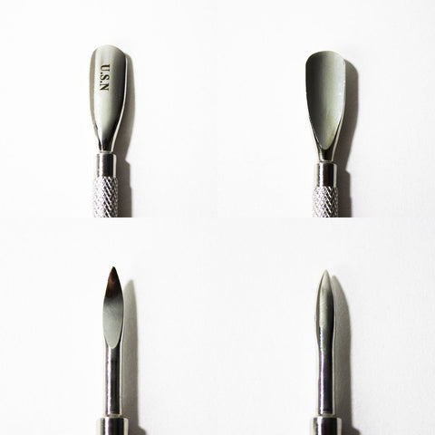 Cuticle pushers are also included in starter packages