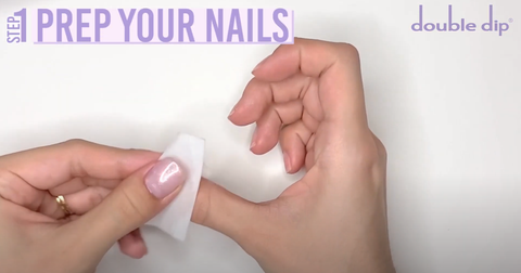 real nails make sure they are properly prepped
