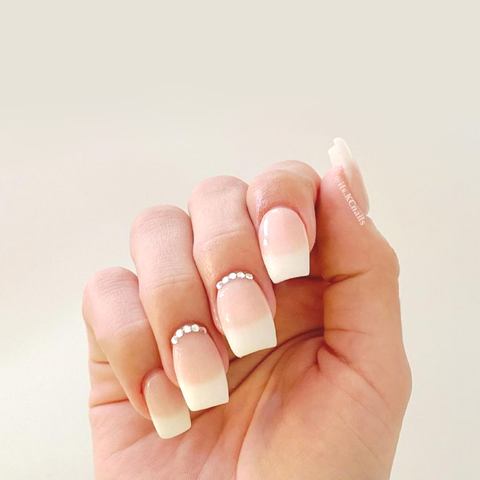 How To DIY French Tip Dip Powder Manicure Tutorial