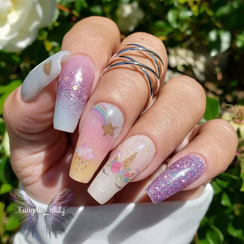 Chic Coffin/Ballerina Shaped nails