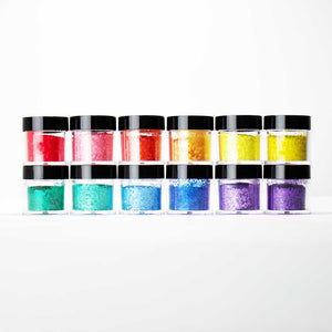 GS02-GS13-24 12 PCS Mix Loose Glitter Set #24 - Double Dip Nails