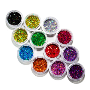 LD01-LD11-9 12 PCS Mix Loose Glitter Set #9 - Double Dip Nails