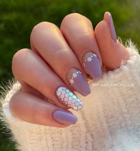 LG005 - Snow Drops - Double Dip Nails