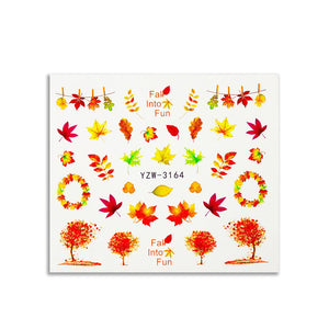 Maple Nail Water Decal Sticker - Double Dip Nails