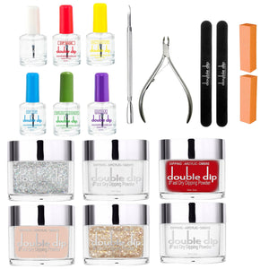Professional Starter Kit 6 Colors (2oz) with Complete Essential Liquid Set - doubledipstore