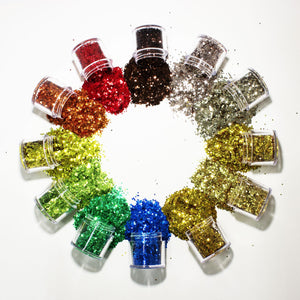 S1202-S1705-4 12 PCS Mix Loose Fine Glitter Set #4 - Double Dip Nails