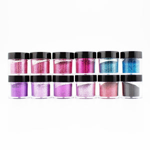 S1711-S1000-17 12 PCS Mix Loose Fine Glitter Set #17 - Double Dip Nails