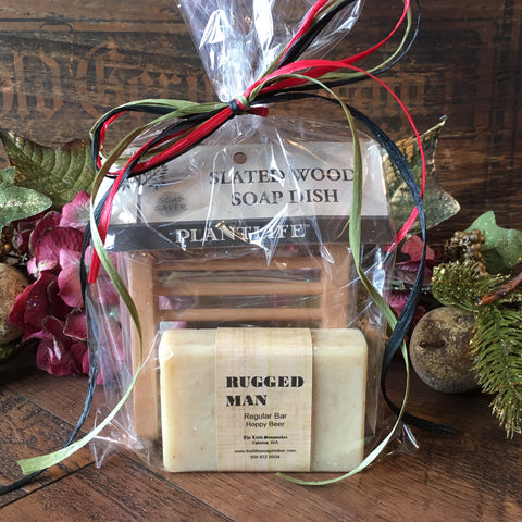 Men's Tray and Soap Gift Set