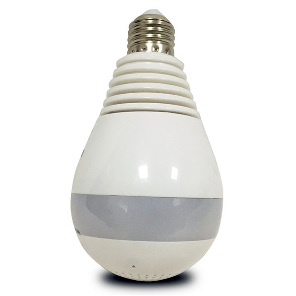 360 Panoramic Hidden Fisheye Camera LED Light Bulb Security