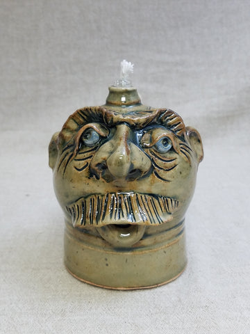 Blue Eyes, Effigy Oil Lamp #15