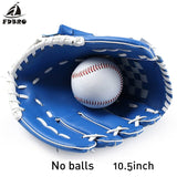 FDBRO Adult Man Woman Training Outdoor Sports Brown Baseball Glove Softball Practice Equipment Size 10.5/11.5/12.5  Inch
