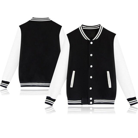 Pure color cotton baseball Jacket unisex streetwear single breasted baseball jackets fitness tracksuits spring/autumn clothing