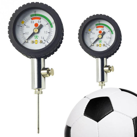 Soccer Ball Pressure Gauge Air Watch Football Volleyball Basketball Stainless Steel Barometers