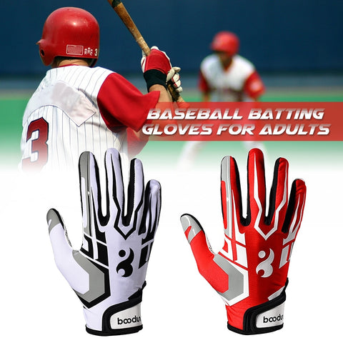 Batting Gloves Unisex Baseball Softball Batting Gloves Anti-slip Batting Gloves For Adults Baseball Accessories