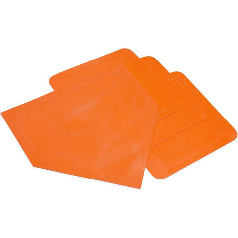 Throw Down Bases Rubber Base Soft Bag Baseball Softball Kickball Pitcher Board Base Set for Baseball Softball Kickball Supplies