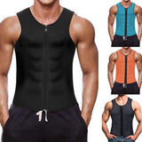 New Men Zippered Sports Vest Speed Wicking Abdomen Corsets Neoprene Corset Slimming Belt Belly Body Shaper Sports vest