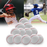 "12PCS Baseball 9"" Bouncy Tball Soft Ball Student Soft Toy PU Foamed Training Exercise Gifts High Quality Durable Fashion"