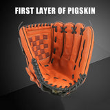 Pigskin Thickening Baseball Glove Outdoor Sports Softball Practice Baseball Gloves Size 10.5/11.5/12.5 Man Woman Kids Training