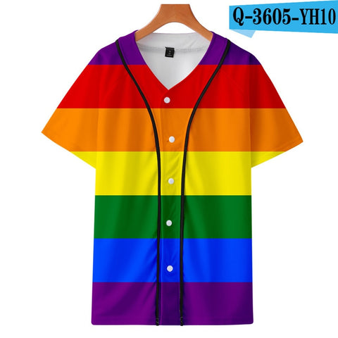 New pattern Iridescent color women and youth Customized Thin Baseball Jersey Men's 3D printing sports jersey Men women Jersey