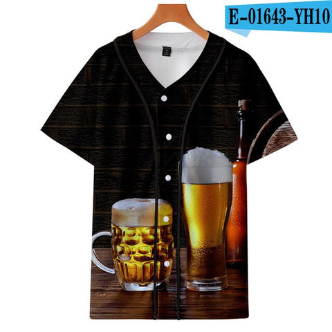Individuality Customized Women, youth Baseball Jersey 3D printing Casual in summer men's Thin Short sleeves Baseball clothes