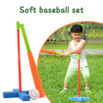 3-Pcs Set Baseball Toy Set Soft Activity Fitness Safety Sports Play Games Kids Training Outdoor Children Fitness Bat Foam