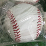 Baseball Full Cowhide 1pcs 9inch Team Handmade White safety kid Soft Base Balls Practice For Trainning 30 Wool Core beisbol Hard