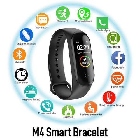 M4 Smart Band Watch Bracelet Sport Watch Fitness Running Tracker Bracelet Step Count Distance running sports pedometers dropship