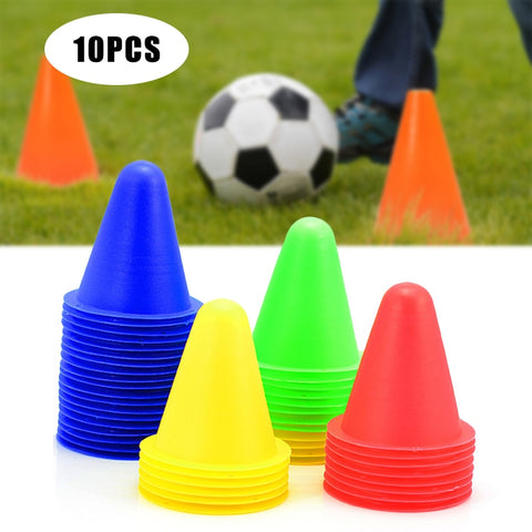 10 Pcs Soccer Training Marker Football Sign Bucket Road Cone Obstacles Roadblocks Multipurpose Football Training  Traffic Cones
