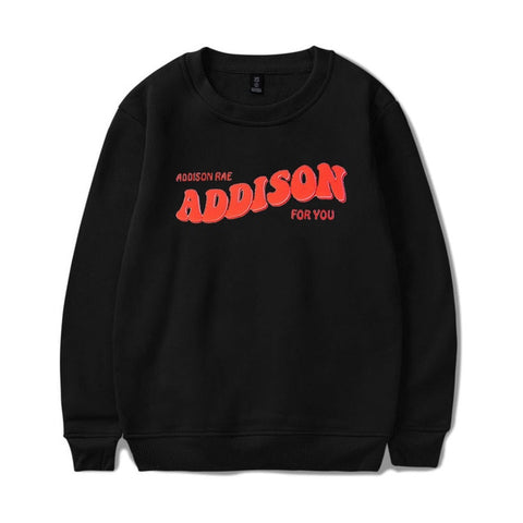 New ADDISON RAE: ADDISON FOR YOU WHITE CREWNECK Hoodie Sweatshirts Men Women Printing hoodies Pullover Unisex Harajuku Tracksuit