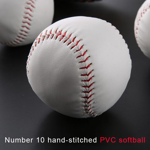 High Quality Softball No.10 PVC Scarfskin Solid 10 Inch Hand Stitched Child Students baseball Training Practice Exam ball bat