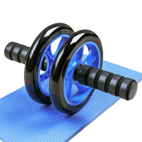 Dropshipping Double-wheeled Abdominal Press Wheel Rollers Exercise Equipment for Home Gym Body Building Fitness with Hassock