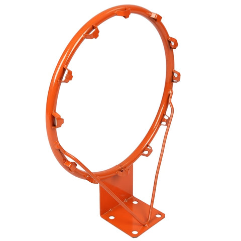 Basketball Rim Net Indoor Outdoor Hanging Basketball Goal with All Weather Net Wall Mounted Basketball Hoop 14Inch