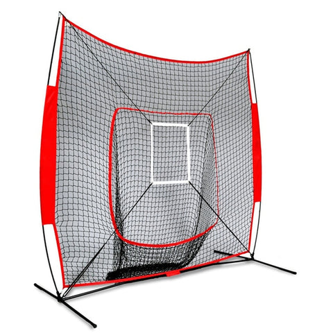 7x7 ft Softball Baseball Practice Net With Frame Hitting Pitching Batting Catching Backstop Equipment Training Aids Strike Zone