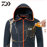 Daiwa Shirt Breathable Fishing Clothing Men Waterproof Fishing Shirts Long Sleeve Fishing Jacket Quick Drying Fishing Clothes