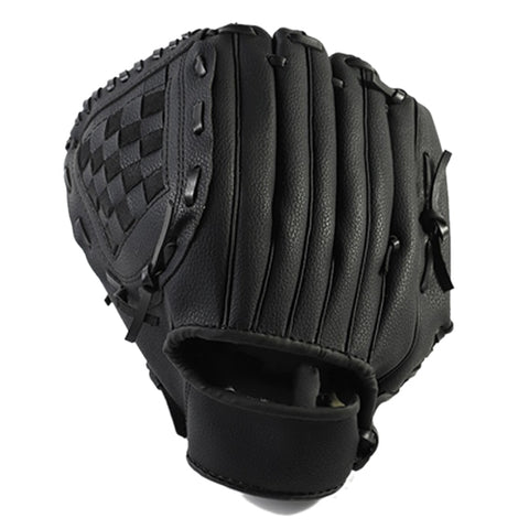 Outdoor Sports 2 Colors Baseball Glove Softball Practice Equipment Right Hand for Adult Man Woman Train,Black 12.5 Inch