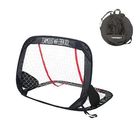 WISHOME 2in1 Kids Pop Up Soccer Goal Portable Football Gate Children Soccer Goal Net for Backyard Indoor Toy Soccer Equipment