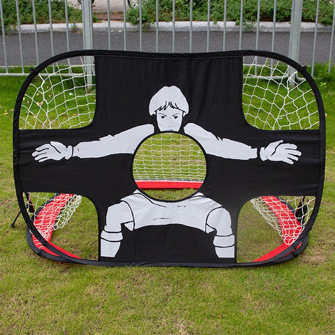 Foldable 2 In 1 Children Football Gate Net Outdoor Sports Toys Football Goal Door Set for Backyard Indoor Toy Soccer Equipment