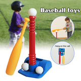 Hot T-Ball Set for Toddlers Kids Baseball Tee Game Toy Set Includes 2 Balls Adjustable T Height Improves Batting Skills
