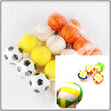 24pcs soft Squishy toy popular football volleyball kids sports Stress Relief antistress tennnis baseball Foam Earth toys Ball