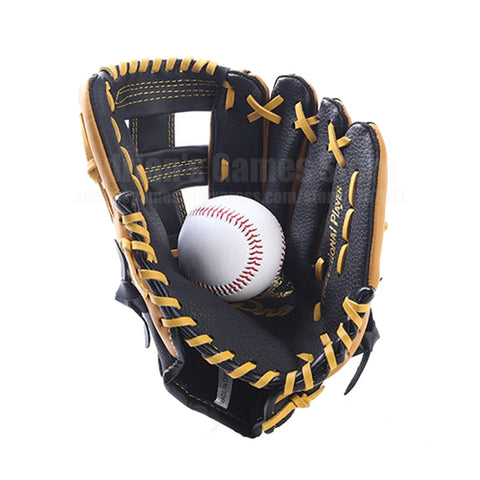 Genuine Leather Baseball Glove & 1 Ball Baseball Set Mitten Baseball Mitt