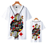 Youth 3D Baseball Shirts Button Cardigan , Men Women Throwback Kits Baseball jersey Children Beisbol uniforms Kit Clothing