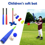 Kids Soft Foam T-Ball Baseball Set Toy 8 Different Colored Balls Include Organize Bag For Kids Over 1 Years Old