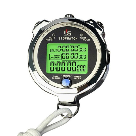 Outdoor Fitness Equipment Stopwatch Timer Metal Luminous Running Training Timer for Track and Field Athletics