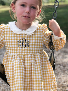 Kenzie dress with monogram