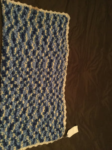 Crochet blanket- blue