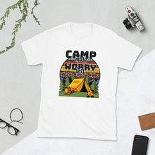Load image into Gallery viewer, Camp More Worry Less Tshrit