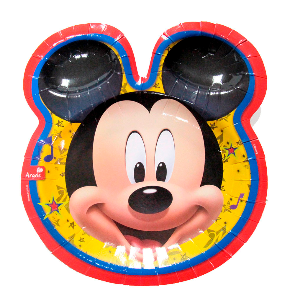 Platos Carita de Mickey Rock 6 Un.