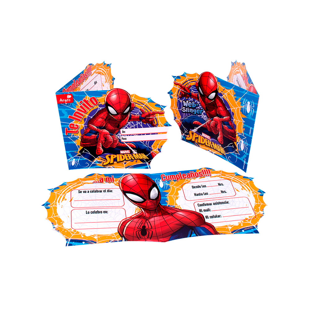 Tarjet Invitación Spiderman